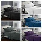 Twin/Queen/King Bed Sheet Set Soft Microfiber 4 Piece Deep Pocket Flat Fitted image