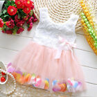 Toddler Flower Girls Baby Party Wedding Tutu Tulle Dress Pageant Skirts Dresses