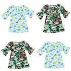 Camouflage Casual Baby Dress Army Green Kids Clothing Wedding Party Dress