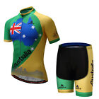 Men's Cycling Jersey Shorts Set Breathable Tight Bike Clothing Bicycle Tops