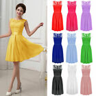Women Chiffon Lace Short Prom Party Cocktail Bridesmaid Wedding Dress Sleeveless