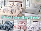 "Arora Collection Soft Microfiber 6-Pc Sheet SET 16"" Deep Pocket Printed Bedding"
