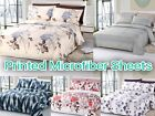 "Arora Collection Soft Microfiber 6-Pc Sheet SET 16"" Deep Pocket Printed Bedding image"