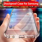 For Samsung Galaxy S10 S9 Plus Clear Shockproof Soft Silicone Rubber Case Cover