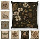 18'' Floral Pattern Sofa Decor Throw Pillow Case Cotton Linen Cushion Cover