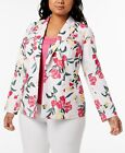 INC International Concepts Plus Size Floral-Print Blazer