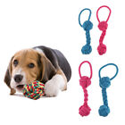 2pcs Dog Chews Cotton Rope Toy Knot Ball Grinding Teeth Molar Pet Toys