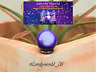 Small 60g natural AGATE SPHERE BALL with RAINBOW HEMATIT RING     SPECIAL GIFT