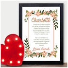 Personalised Best Friends Friendship Poem Birthday Gifts for BFF Her Presents