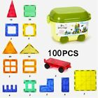 Magnetic Tiles Building Blocks Toy Magnetic Building Set Building Blocks 100PCS