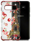 Samsung Galaxy S10 /S10+ Plus - Hard Chrome Rubber Spot Diamond Clear Case Cover