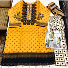 Lawn Cotton Embroidered Stitched Pakistani Indian salwar kameez  reduced to £20