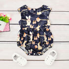 US Toddler Infant Baby Girl Easter Bunny Romper Bodysuit Jumpsuit Clothes Outfit