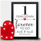 1st 2nd 10th 25th 30th 40th 50th PERSONALISED Wedding Anniversary Gifts ANY Year