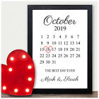 PERSONALISED Memorable Date Calendar Gifts for 1st First Wedding Anniversary
