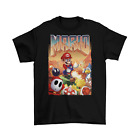 Doom Super Mario T-Shirt Unisex Cotton Adult Funny Video Game Retro Guns New image