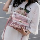 1x Womens Transparent PVC Clear Alphabet Jelly Bag Tote Casual Handbag Messenger
