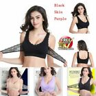 1Pcs Front Cross Side Buckle Wireless Lace Bra Breathable for Women Sport Yoga