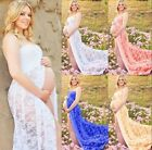 Pregnant Women Lace Front Split Long Maxi Maternity Dress Gown Photography Props