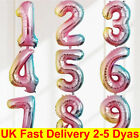 """32"""" Giant Foil Number Balloons Self Inflating Birthday Age Party Wedding Decor"""