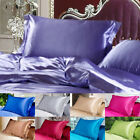 NEW Lithe Queen/Standard Silk~y Satin Pillow Case Bedding Pillowcase Smooth Room image