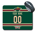 NHL Minnesota Wild Personalized Name/Number Mouse Pad 160105 $12.99 USD on eBay