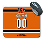 NFL Cincinnati Bengals Personalized Name/Number Mouse Pad150610 $14.99 USD on eBay