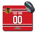 NHL Chicago Blackhawks Personalized Name/Number Mouse Pad 160326 $14.99 USD on eBay