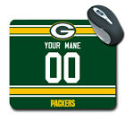 NFL Green Bay Packers Personalized Name/Number Mouse Pad 152318 $12.99 USD on eBay