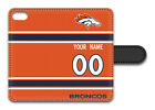 NFL Denver Broncos Personalized Name/Number iPhone iPod Wallet Case 151330 $17.99 USD on eBay
