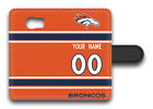 NFL Denver Broncos Personalized Name/Number Samsung Phone Wallet Case 151330 $15.99 USD on eBay