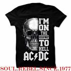 ACDC HIGHWAY TO HELL THE CLASSIC ROCK BAND T SHIRT MEN'S SIZES image
