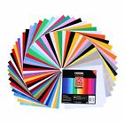 Adhesive Vinyl Sheets-40 Colors Self Vinyl Craft Paper with 2 Clear Transfer Tap $23.99 USD on eBay