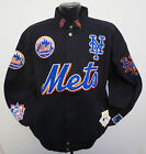 NEW YORK METS MENS ADULT JACKET BY GIII G3 COTTON TWILL BASEBALL MLB NATIONAL on Ebay
