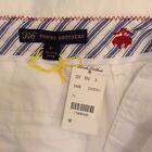 NWT Brooks Brothers 346 Women's White Chino Shorts, Flat Front Size 12