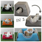 2 In 1 Pet Cat Bed Cave/Cat Sofa,  Non Skid Kittens Bed Cat Condo Pet Supplies