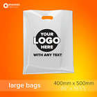 Printed Personalised Plastic  / Polythene Carrier bags with logo