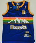 Hardwood Classics Throwback Jersey ALLEN IVERSON 3 Denver Nuggets Blue Men NWT