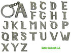 26 Alphabets Letters Crystal Keychain Key Ring Chain Fob Gift 4