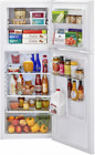 HAIER 9.8 Cu Ft Top Mount Refrigerator Stainless Steel Or White photo