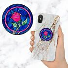 Enchanted Rose Disney Beauty Beast Retractable Phone Grip Ring Holder Stand