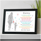 PERSONALISED Mummy and Daughter Son Gifts from Girl Boy Birthday Gift for Mum