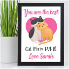PERSONALISED Gifts for Cat Lovers Cat Mum Mummy Nanny Birthday Christmas Present