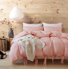 Pink Duvet Cover Set Twin Queen King Ultra Soft Bedding Set Laceup for Comforter image
