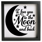 I Love You To The Moon And Back Vinyl Decal Sticker Box Frame Ikea Ribba
