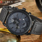 CURREN Watch Men's Sports Leather Watches Fashion Casual Quartz Boy Wristwatch image