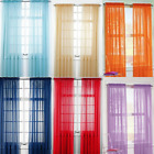 Kyпить 2 Piece Sheer voile Window Elegance Curtains drape panels treatment 84 length   на еВаy.соm
