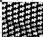 Bichon Frise Black White Fluffy Puppy Dog Fabric Printed by Spoonflower BTY