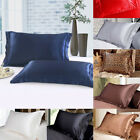 Home Lithe Queen Standard Smooth Silk Satin Sheet Pillow Case Cover Pillowcase image