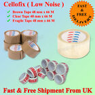 CELLOFIX LOW NOISE PACKING PARCEL TAPE BROWN/CLEAR/FRAGILE TAPE 48MM2